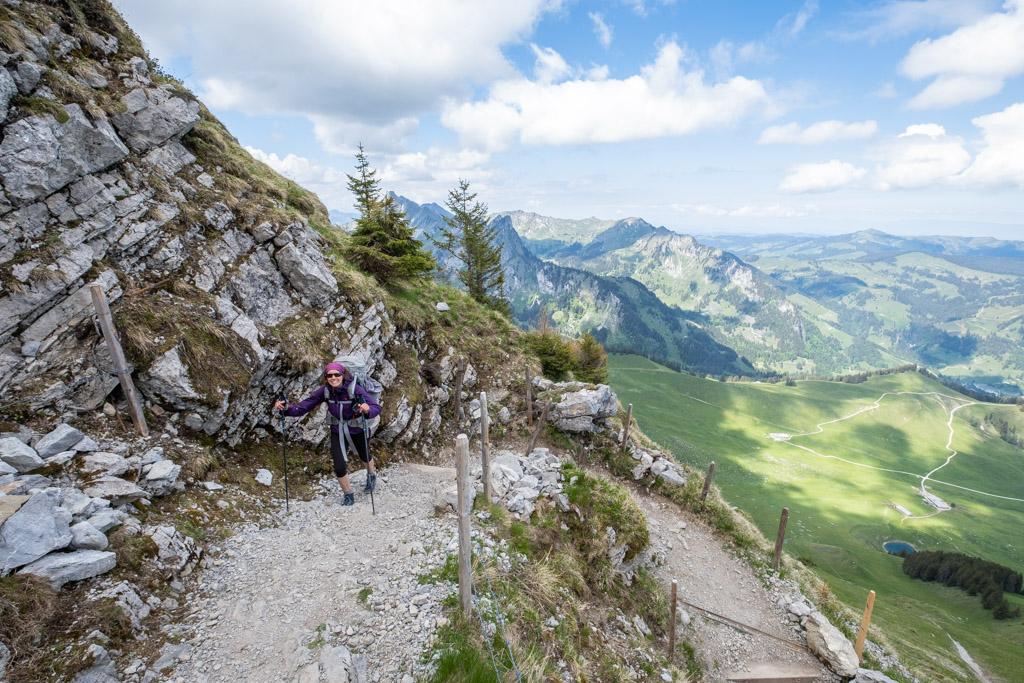 Montée vers le col de Kaiseregg (Kaisereggpass)