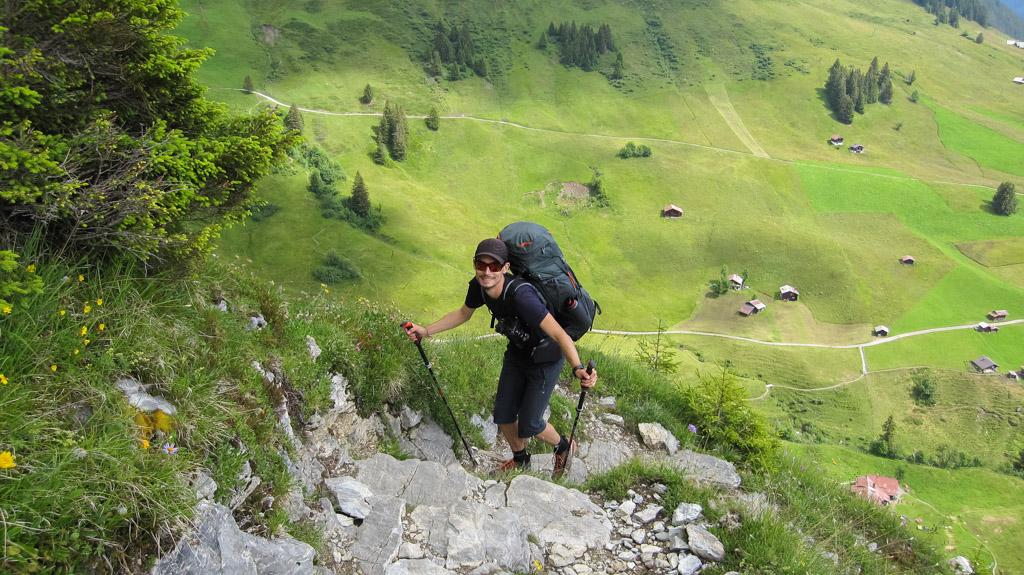 Via Alpina - En plein effort