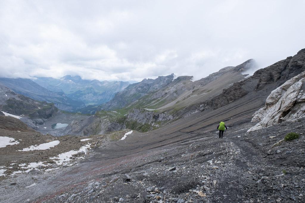 Via Alpina - Descente d'un col
