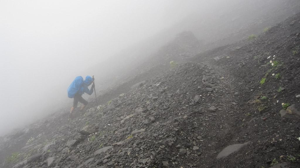 Via Alpina - Même avec une mauvaise météo, nous restons motivés