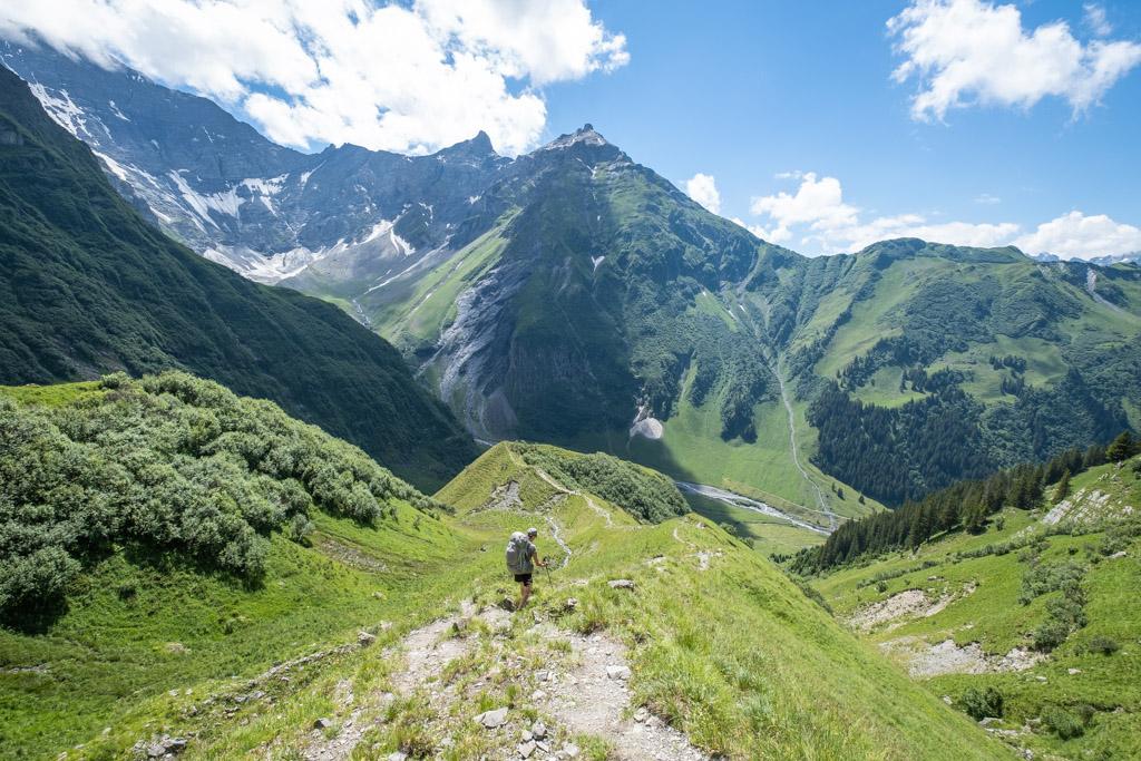 Via Alpina - En direction de Linthal