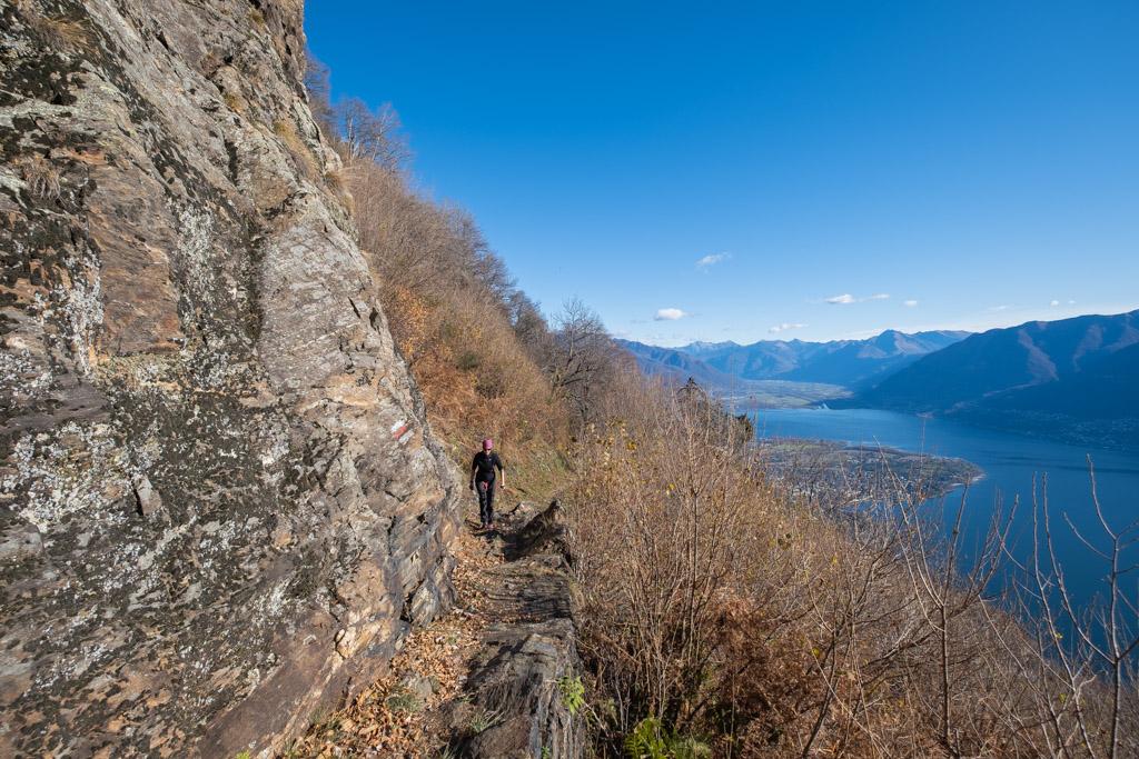 Vue sur Ascona et le delta de Locarno